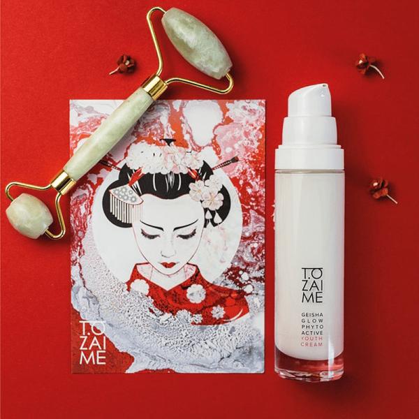 Geisha Glow Phytoactive Youth Cream & Jade Roller Set