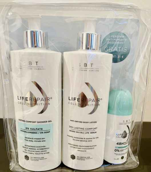 Bodyset Liferepair Shower Gel & Body Lotion & Anti-Humidity Deo