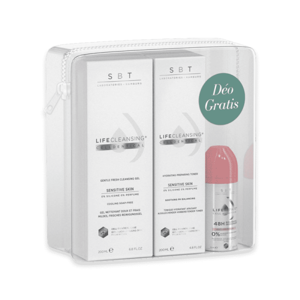 Cleanser Set - Gentle Fresh Cleansing Gel & Celldentical Toner & Anti-Irritation Roll-on Deo