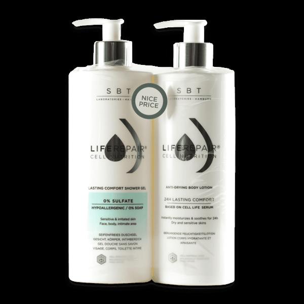 Duo Pack Liferepair Shower Gel & Anti-Drying Body Lotion